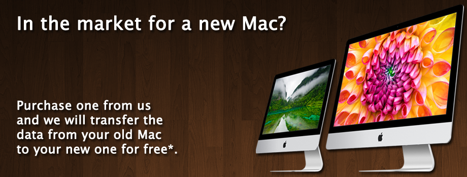 Free data transfer with a new Mac