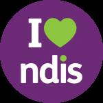 I heart NDIS logo
